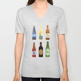 Beer Bottles Unisex V-Neck