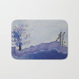 Blue Landscape Bath Mat