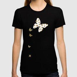 Golden touch III - Gold glitter effect polka dot pattern T-shirt