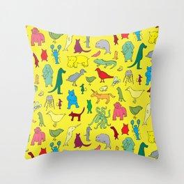 alphabet animals Throw Pillow