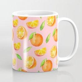 Watercolor Oranges Pattern 2 Coffee Mug