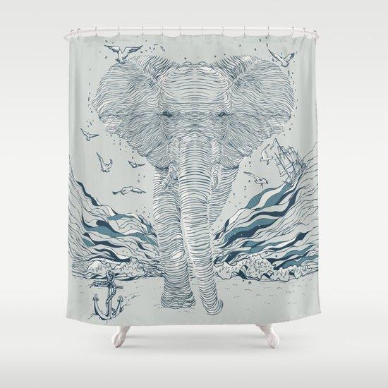 THE OCEAN SPIRIT Shower Curtain