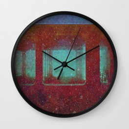 Into the City, Structure Windows Grunge Wall Clock