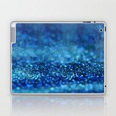 Aqua Glitter effect- Sparkling print in different blue Laptop & iPad Skin