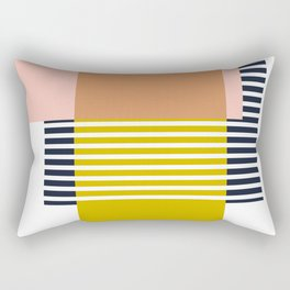 Marfa Abstract Geometric Print Rectangular Pillow
