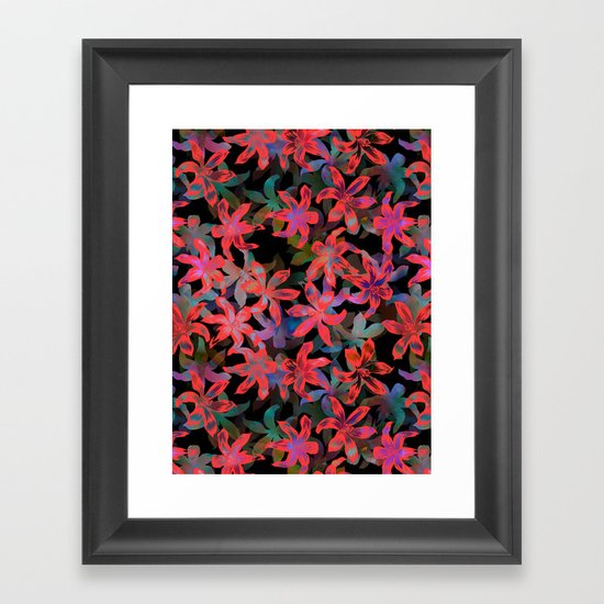 Tropical Serenade - Black Framed Art Print
