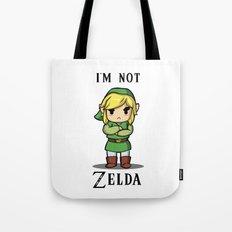 I'm Not Zelda Tote Bag