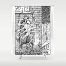 The Burglar Shower Curtain