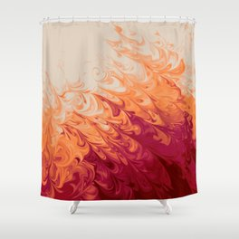 Marble abstract pattern in warm colors digital illustration  Shower Curtain