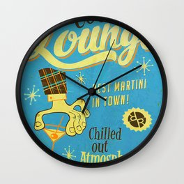 Rise Cocktail Lounge Wall Clock
