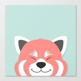 Red Panda Smiles Canvas Print