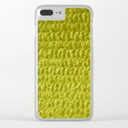 Yellow Bubble Row Textile Photo Art Clear iPhone Case