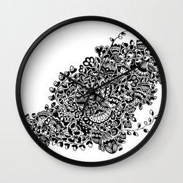 Butterflies in the Flowers Wall Clock