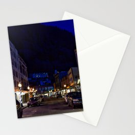 Downtown Juneau at Night Stationery Cards