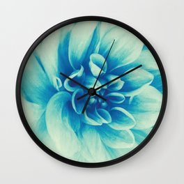 Blue Beauty (Spring Blooming Dahlia) Wall Clock