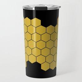 Honeycomb Black Travel Mug