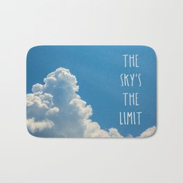 Sky's the limit - cloudscape Bath Mat