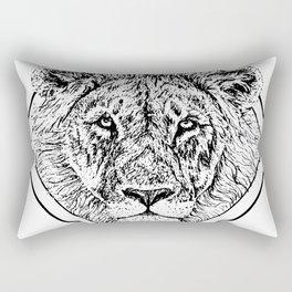 Diamond Lion Rectangular Pillow
