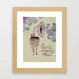 no leaving now Framed Art Print