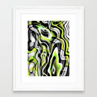 neon Framed Art Prints featuring Neon by Marta Olga Klara