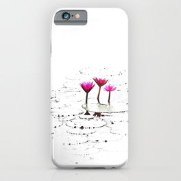 Lotus illustration iPhone Case