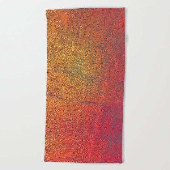 Auric Waves Beach Towel