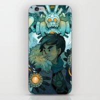 gundam iPhone & iPod Skins featuring Aztec Gundam by CKellyIllustration