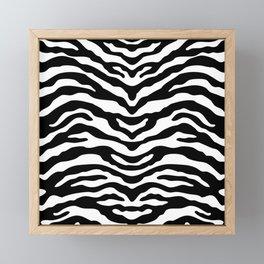 Zebra Wild Animal Print Black and White Framed Mini Art Print