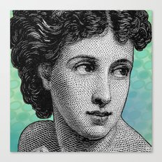 Seductress Blue Canvas Print