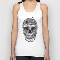 skull Tank Tops featuring Skull Island by Rachel Caldwell