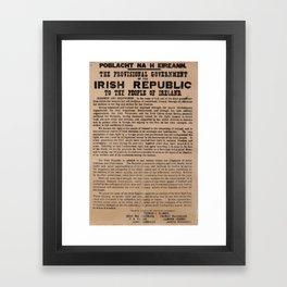 Irish Proclamation of Independence Framed Art Print