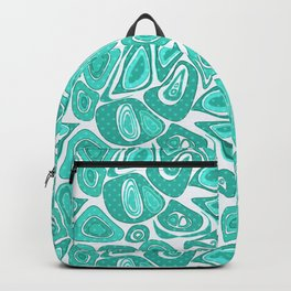 Retro .Turquoise abstraction . Backpack