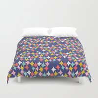 diamonds Duvet Covers featuring Diamonds by heidi kenney