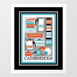 Cathrineholm Retro Kitchen Enamelware Art Print