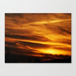 gold sky I Canvas Print