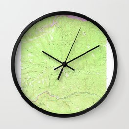 Riverton, CA from 1950 Vintage Map - High Quality Wall Clock