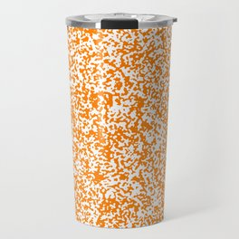 Tiny Spots - White and Orange Travel Mug
