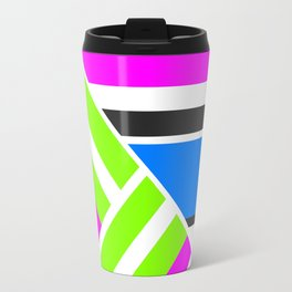 Geometric pattern, Striped triangles 3 Travel Mug