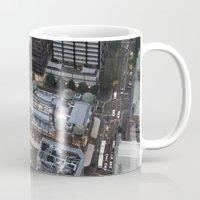 sydney Mugs featuring Sydney  by Cynthia del Rio