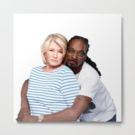 Martha & Snoop Metal Print