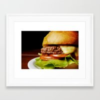 hamburger Framed Art Prints featuring Hamburger by Mauricio Togawa