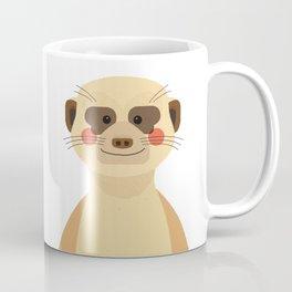 Meerkat, Animal Portrait Coffee Mug