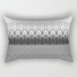 Loom: Black and White, November Trees Rectangular Pillow