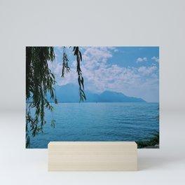 lake geneva, switzerland v Mini Art Print