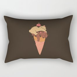 Ice Cream Bears Summer Rectangular Pillow