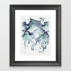 Underwater Temple Framed Art Print