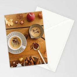 Christmas decoration on wood Stationery Cards