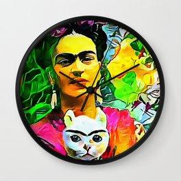 Frida's Cat Wall Clock