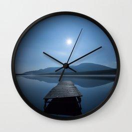 Moon over Lough Aubha Wall Clock