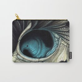 Abstract Skull & Feather Painting - Skull Art Carry-All Pouch